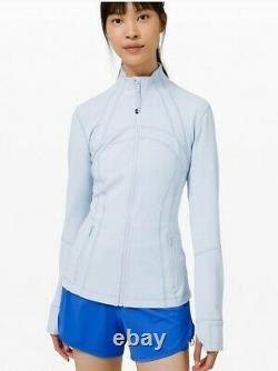 Nwt Lululemon Taille 8 Définir Veste Blue Daydream Dayd Zip Up Ls Vitesse