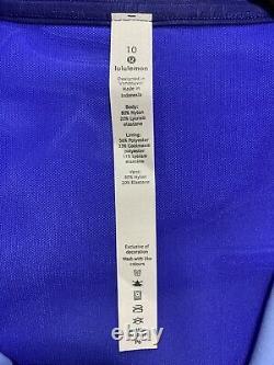 Nwt Lululemon Veste À Capuche Définissez Nulu Taille 10, Jour De Jeu Bleu Multi Gabu