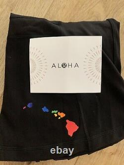 Rare Lululemon Hawaii Aloha Îles Black Rainbow Jacket Taille 10 Définir Des Tno
