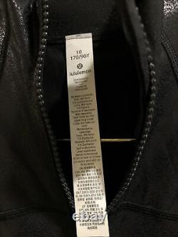 T.n.-o. Lululemon Définir Veste Spark Luminosity Foil Imprimer Noir Taille10