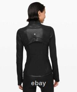 T.n.-o.! Lululemon Définir Veste Spark Luminosity Foil Noir Métallique Taille 10