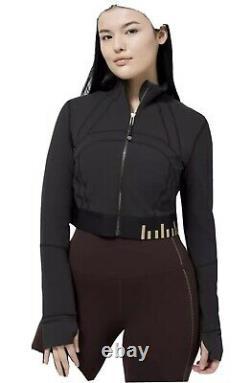 T.n.-o. Lululemon Définir Veste Taillée Or Noir Sz 6
