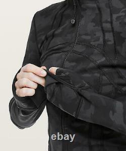 T.n.-o. Lululemon Définir Veste Zipper Icmg Incognito Camo Multi Gris Noir Taille 4