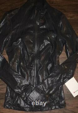 T.n.-o. Lululemon Spark Foil Noir Luminosité Définir Veste Taille 2 Rare