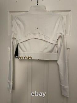 T.n.-o. Lululemon Taille 6 Définir Veste Cropped White Gold Edition Spéciale