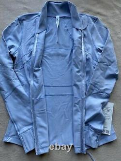 T.n.-o. Lululemon Taille 8 Définissez Veste Bleue Daydream Dayd Zip Up Ls