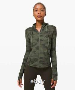 T.n.-o. Lululemon Veste À Capuche Nulu Size4,8héritage 365 Camo Green Twill